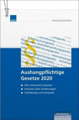 Aushangpflichtige Gesetze 2020
